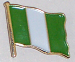 Nigeria Country Flag Enamel Pin Badge
